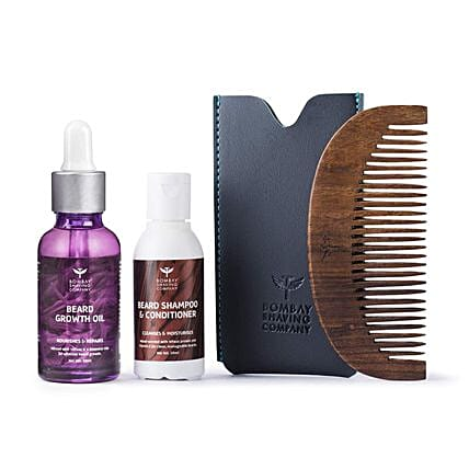 Wood Scented Beard Growth Oil Combo: Cosmetics & Spa Hampers