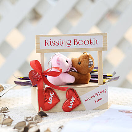 Wooden Kissing Booth & Dairy Milk Chocolates: