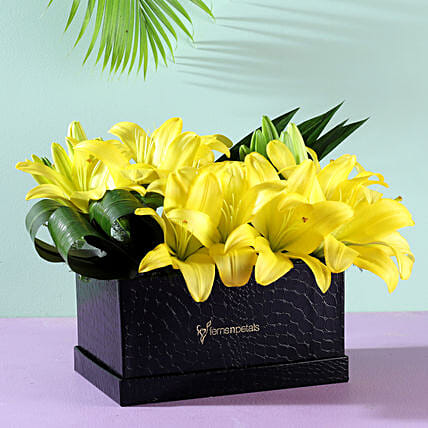 Yellow Asiatic Lilies: Brothers Day Gifts