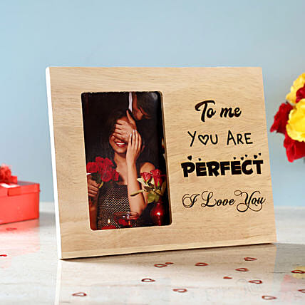 You Are Perfect Engraved Wooden Photo Frame: Send Photo Frames