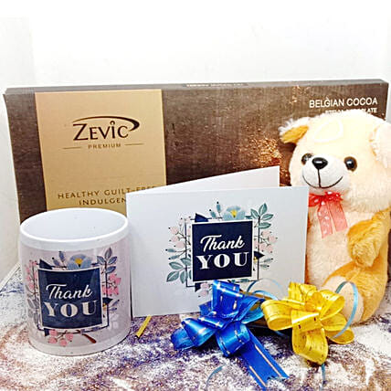 Zevic Dark Chocolate Thank You Hamper: Thank You