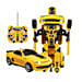 One Button Transforming Remote Car Yellow