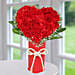 Heart Shape Rose Arrangement