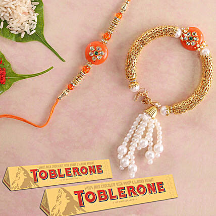 Bhaiya Bhabhi Rakhi Set And Toblerone: