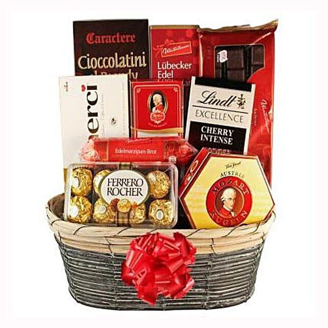 The Sweetvaganza Gift Basket: Send Rakhi to Switzerland