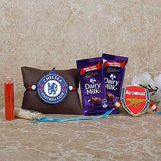 Chelsea FC Rakhi Diar Milk Combo: Send Rakhi for Brother in UAE