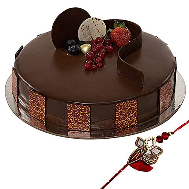 Rakhi with Chocolate Truffle Cake: