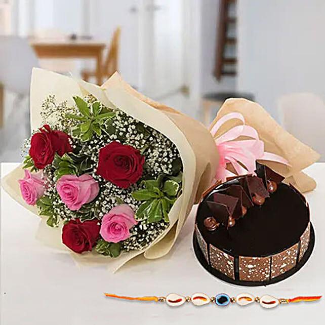 Sweet combo for bhaiya: Send Rakhi with Cake to UAE