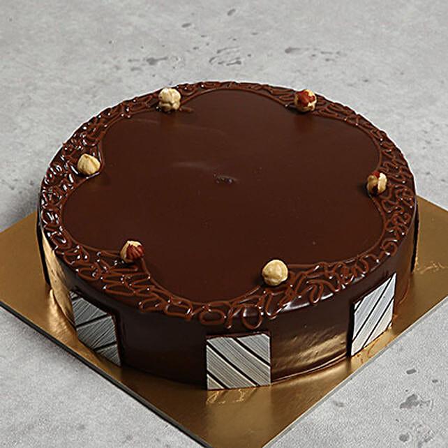 500gm Eggless Hazelnut Choco Cake: Eggless Cakes for Anniversary