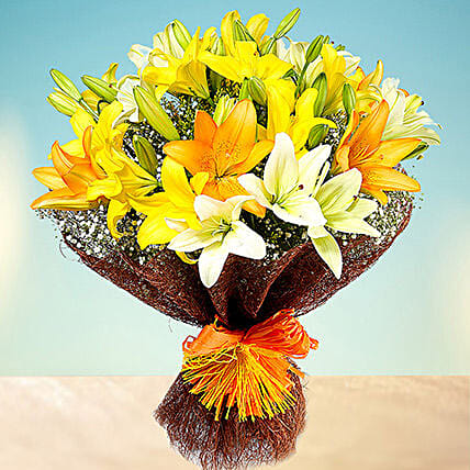 Sunny Asiatic Lilies: Send Gift for Her to UAE
