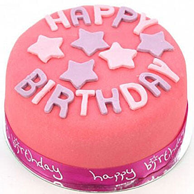 Happy Birthday Pink Cake Order Cakes To UK