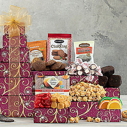 Chocolate And Sweets Tower Send Birthday Gifts To New York