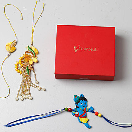 Family Rakhi Set of 3: Send Set of 3 Rakhi to USA