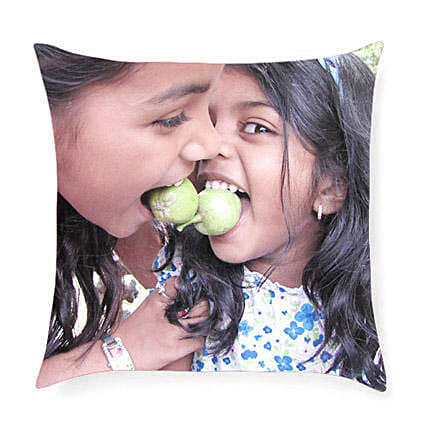 Personalized Print Cushion: Rakhi Gifts for Sister in USA