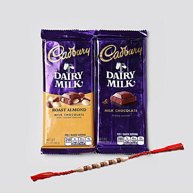 Rakhi And Dairy Milk Combo: Send Kids Rakhi to USA