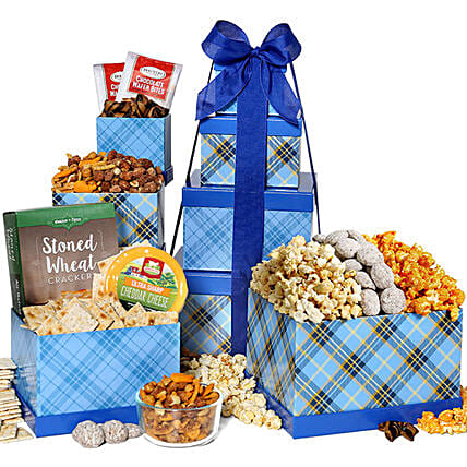 Gift Tower Of Delicious Snacks: Diwali Gift Delivery in USA