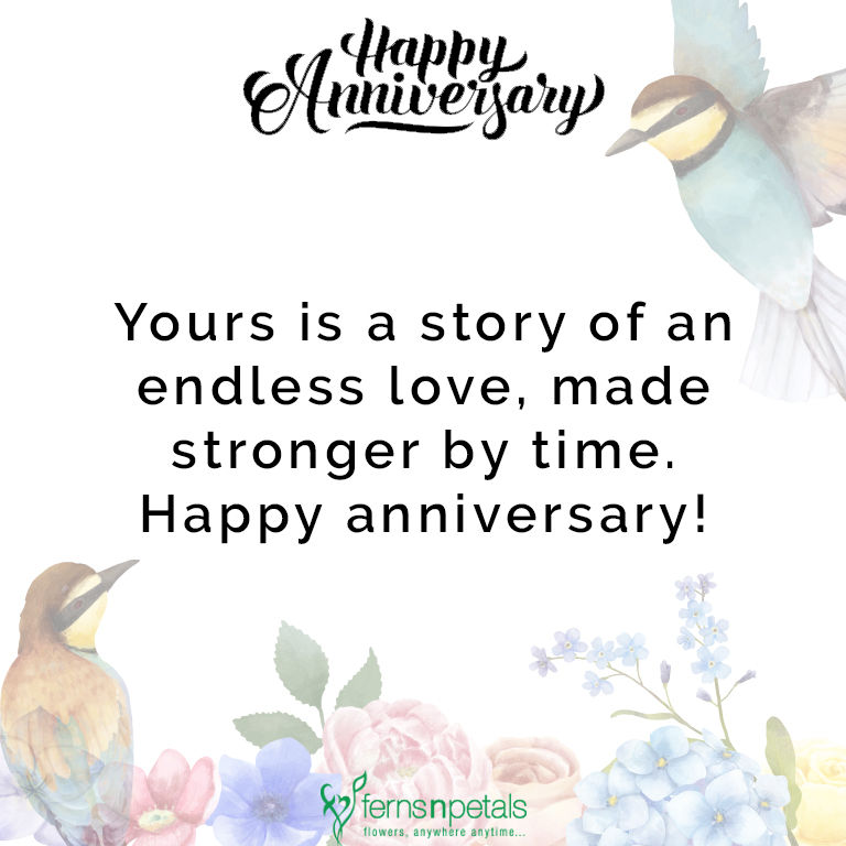 30+ Happy Anniversary Wishes, Quotes N Messages - Ferns N Petals