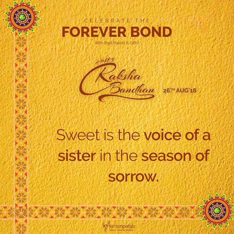 happy raksha bandhan quote for sister