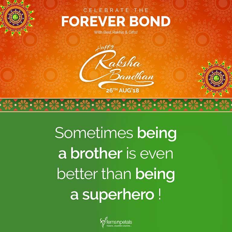 raksha bandhan quote brother