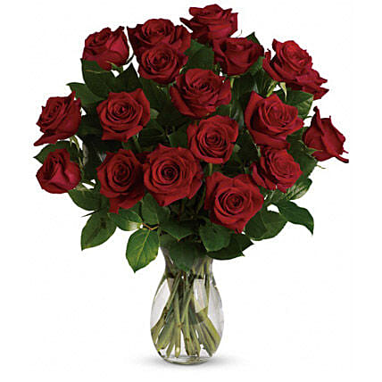 18 Red Roses Bouquet