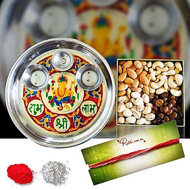 Mix Dry Fruits Tikka Meenakari Thali