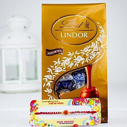 Rakhsa Rakhi With Lindt Chocolate