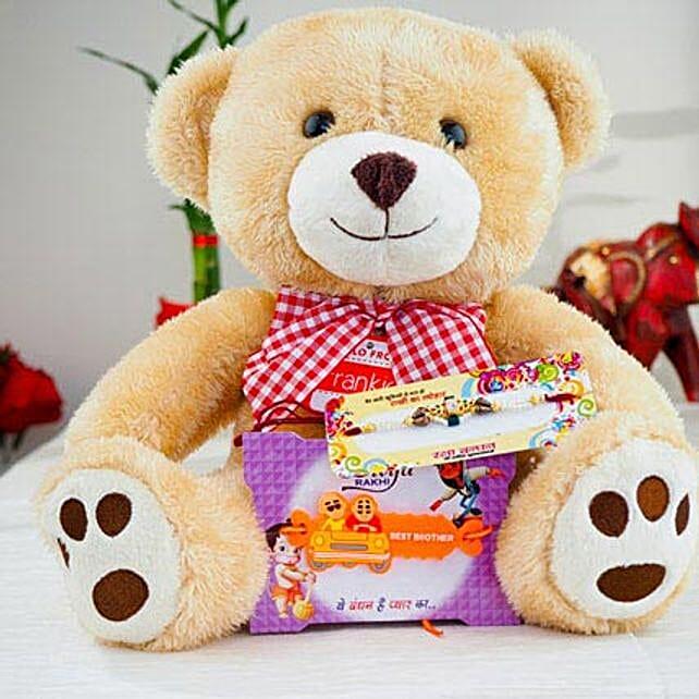 Super Hiro Two Rakhi with Teddy Bear