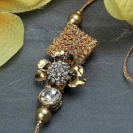 Delightful Antique Rakhi BAH