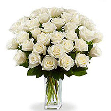 36 White Roses Bouquet
