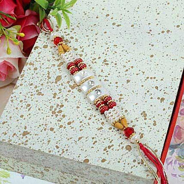 Crystal N Beads Thread Rakhi