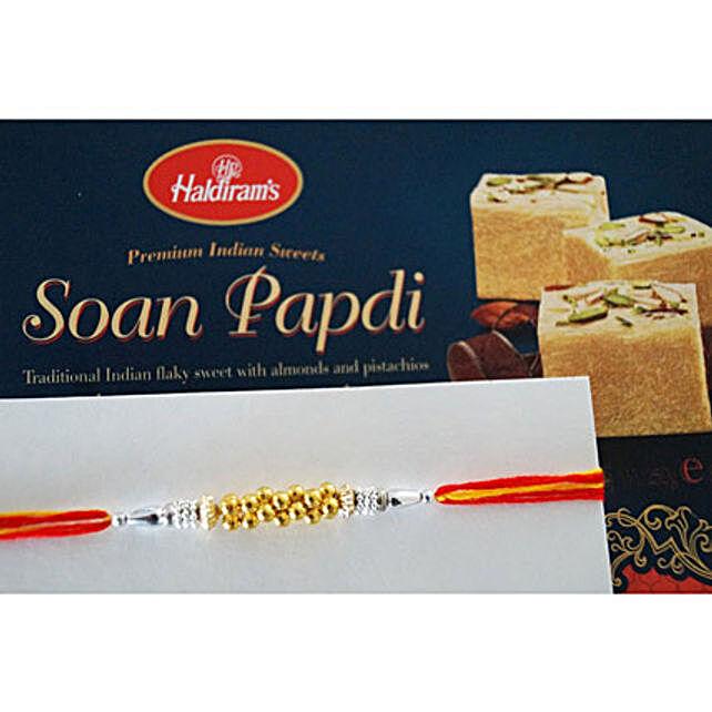 Designer beads Rakhi N Soan Papdi