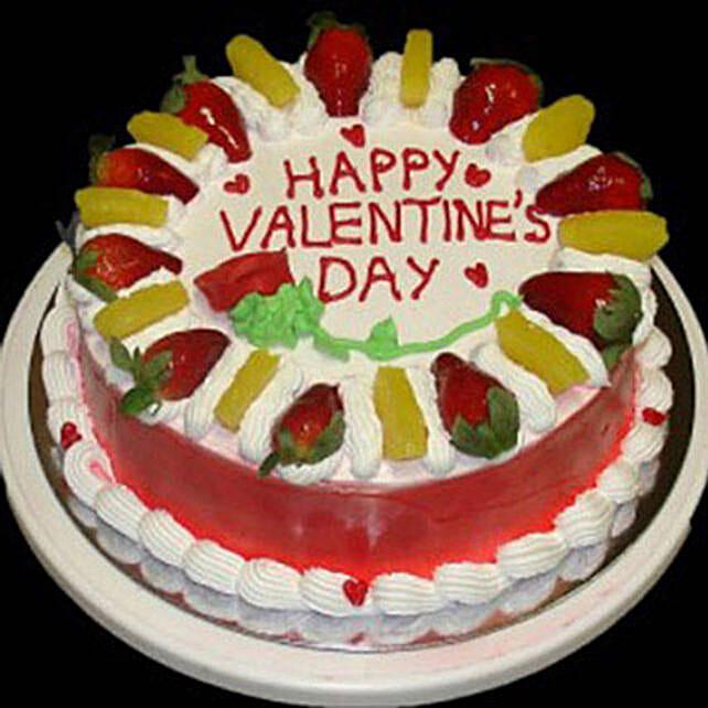 Eggless Valentine Fruit Cake