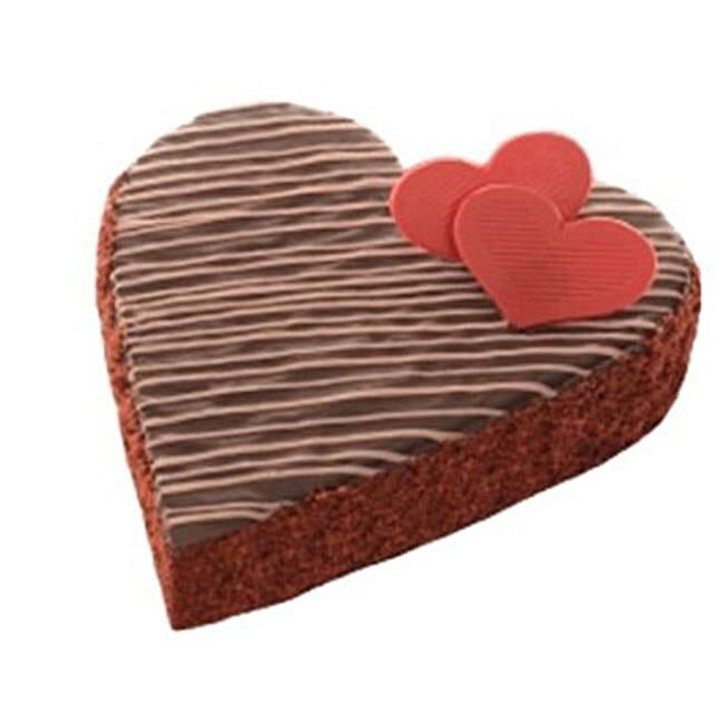 Heartshape Chocolate Truffle Cake
