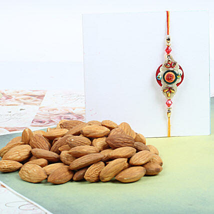 Traditional Rakhi With Almond