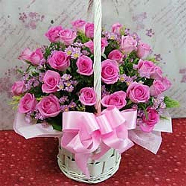 24 roses flower basket A CIN