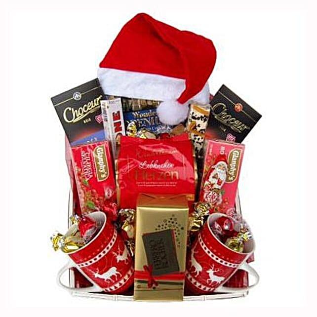 Santa Christmas Tea Basket