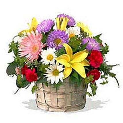 Mixed flower basket INDO