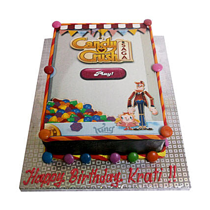 1kg Candy Crush Photo Cake Eggless by FNP