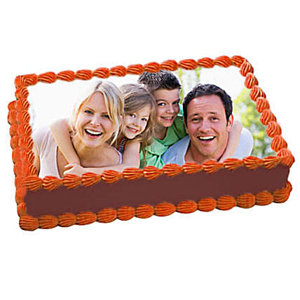 1kg Chocolate Delight Photo Cake by FNP
