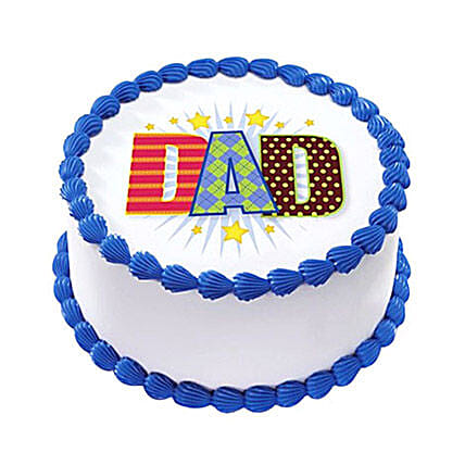 1kg Fathers Day Photo Cake by FNP