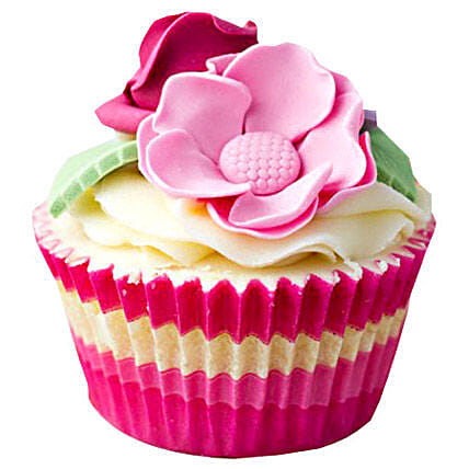24 Pink Flower Cupcakes by FNP