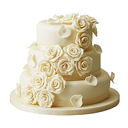 white rose wedding cake chocolate