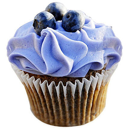 6 Blue Berry Cupcakes by FNP