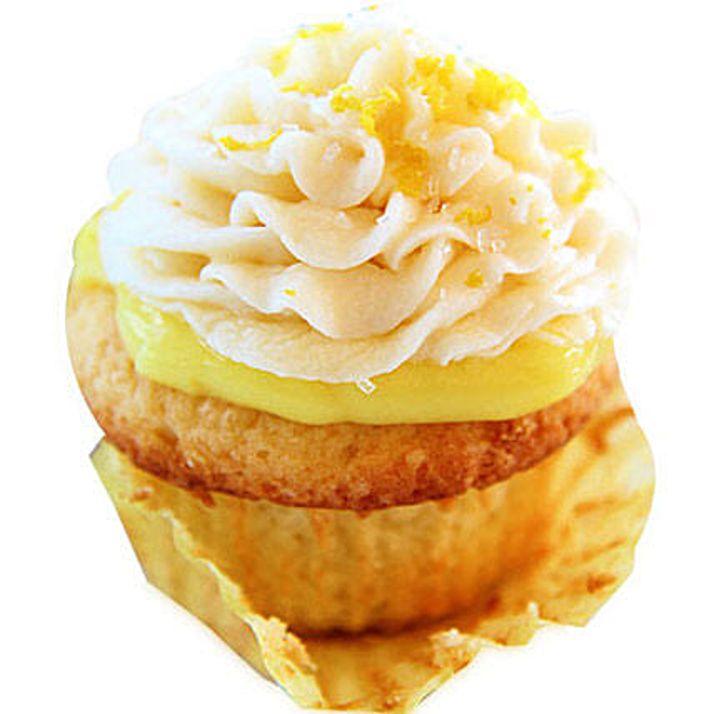 6 Lemon Surprice Cupcakes by FNP