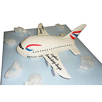 Airplane Cake 4kg Black Forest