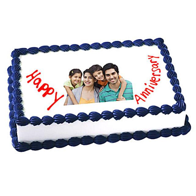 Anniversary Photo Cake 2kg Vanilla Eggless