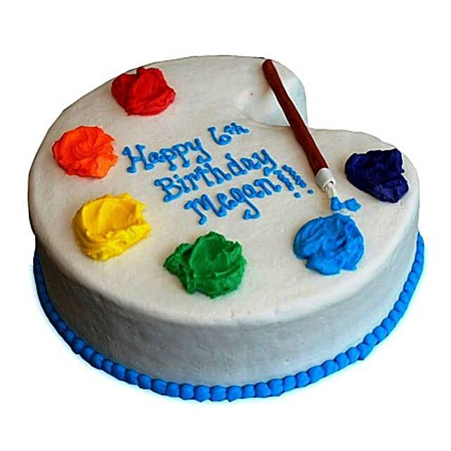 Artist Birthday Cake 4kg Butterscotch