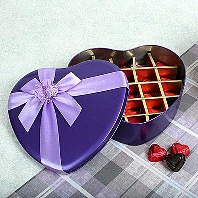 Assorted Chocolates Purple Heart Box