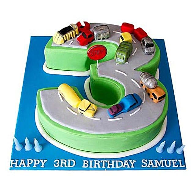 Cars Birthday Cake 2kg Eggless Black Forest