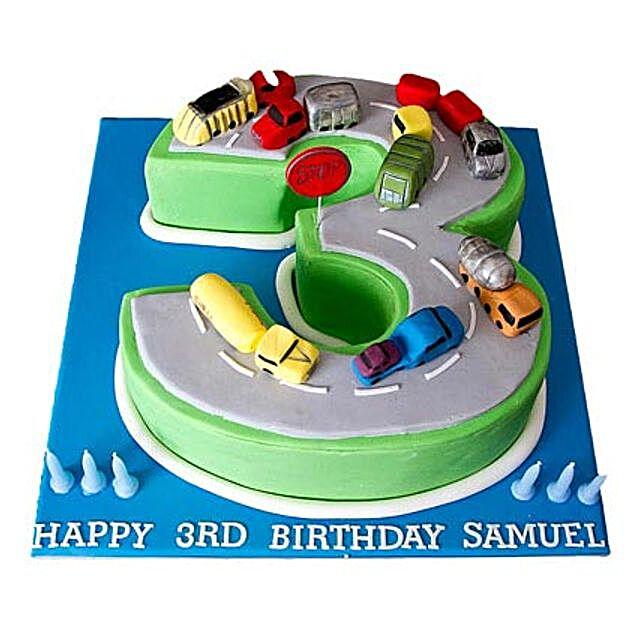 Cars Birthday Cake 3kg Eggless Black Forest